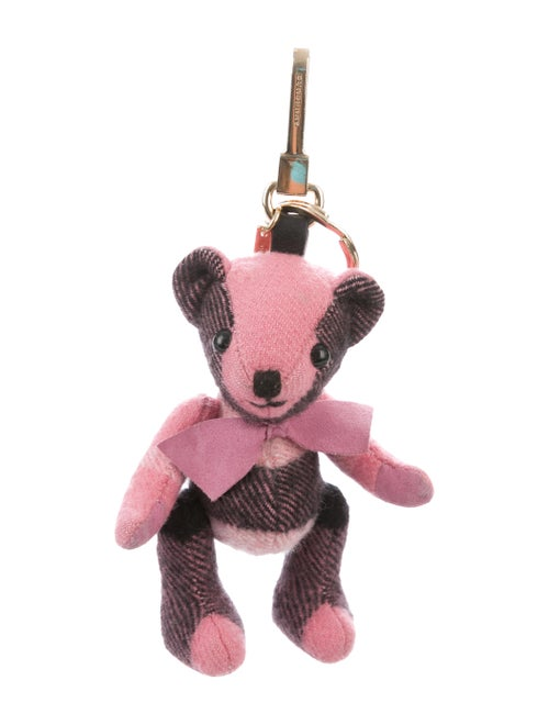 Burberry Thomas Bear Cashmere Bag Charm Pink