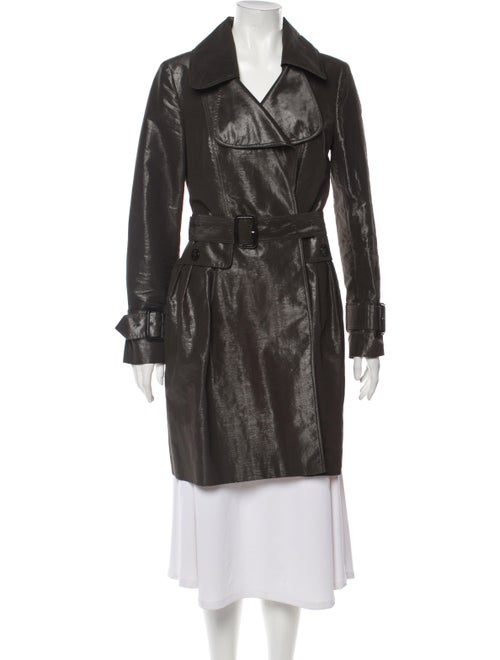 Burberry Silk Trench Coat Brown