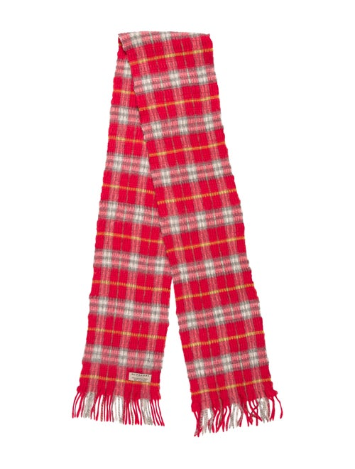 Burberry Cashmere-Wool Blend Scarf Pink