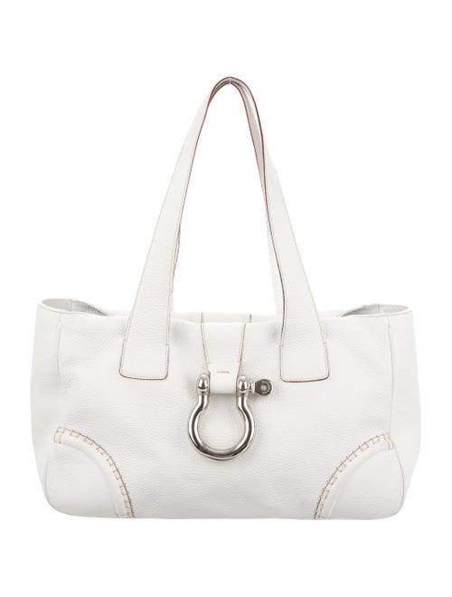 Burberry Leather Shoulder Bag silver