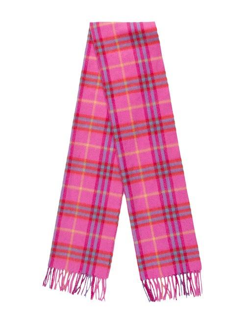 Burberry Cashmere Nova Check Scarf Pink