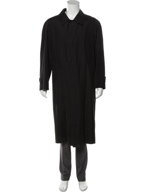 Burberry Woven Trench Coat black