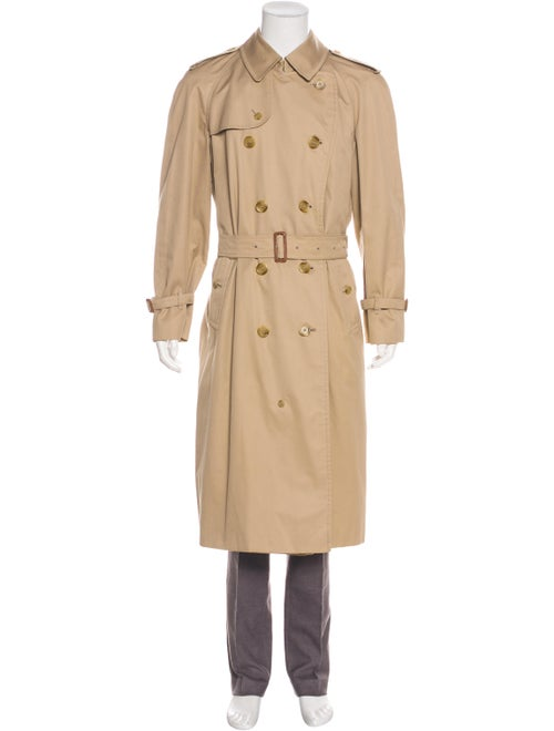 Burberry House Check-Lined Belted Trench Coat beig