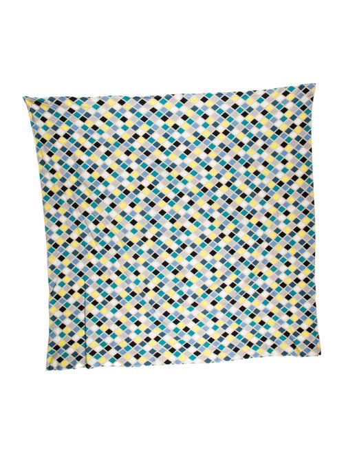 Burberry Poplin Abstract Print Scarf Beige