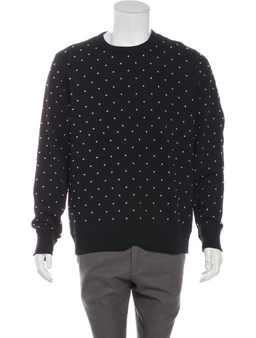Burberry Embellished Crew Neck Sweatshirt black
