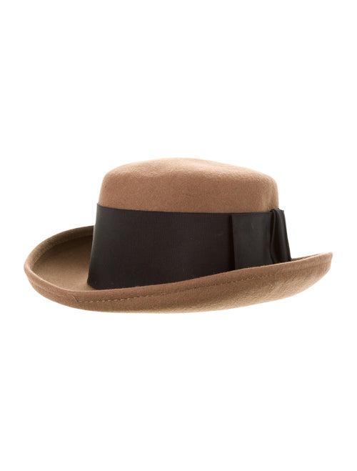 Burberry Wool Fedora Hat Tan