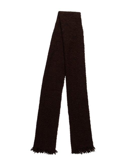 Burberry Wool Silk Scarf Brown