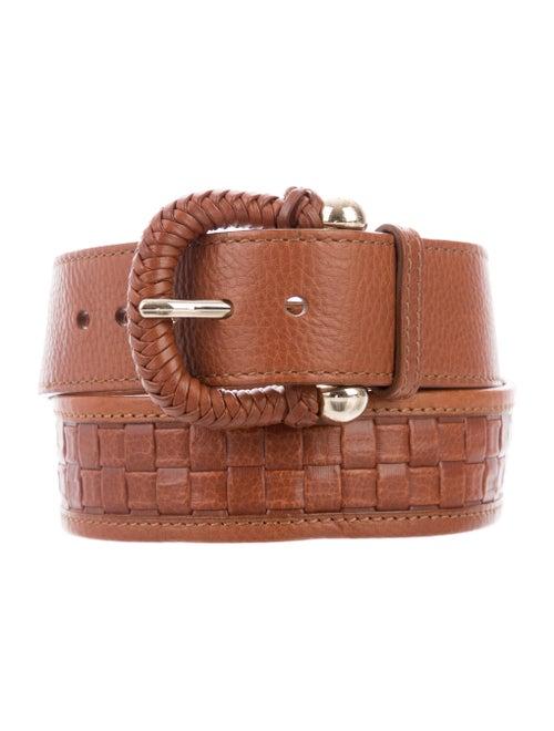 Burberry Leather Hip Belt Cognac