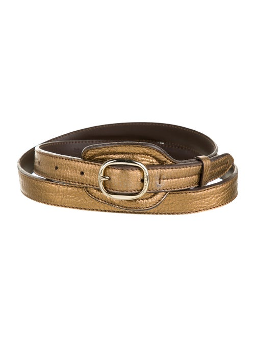 Burberry Leather Hip Belt Gold