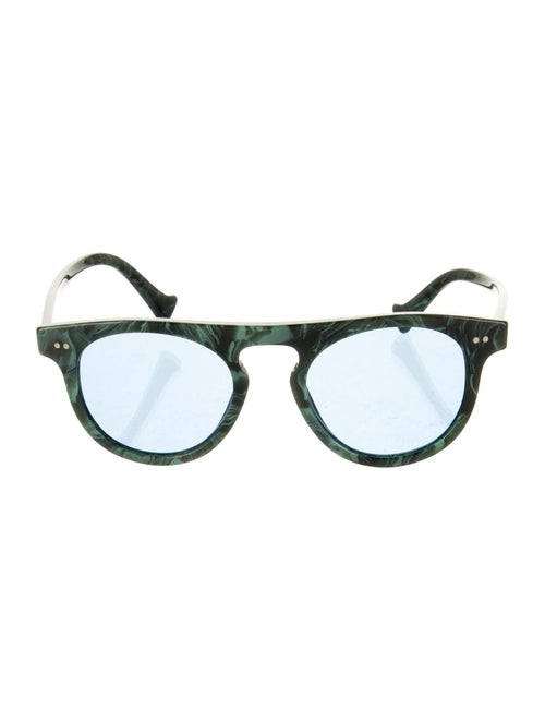 Burberry Round Acetate Sunglasses Green