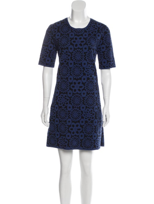 Burberry Jacquard Shift Dress Blue