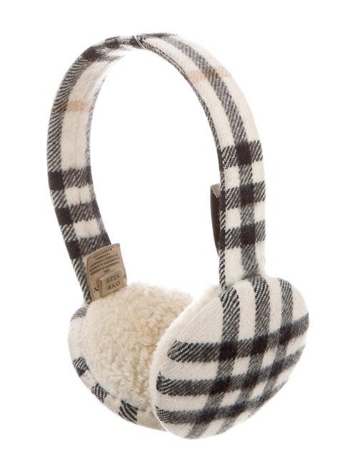 Burberry Nova Check Cashmere Earmuffs White