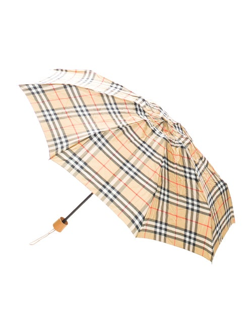 Burberry Nova Check Compact Umbrella Tan
