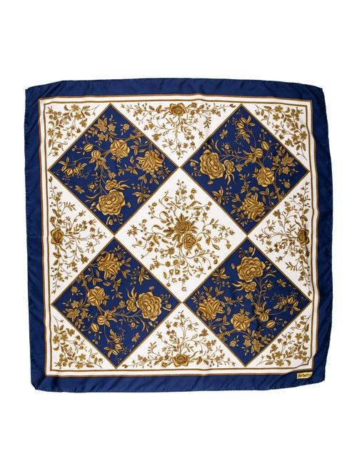 Burberry Silk Printed Scarf Navy