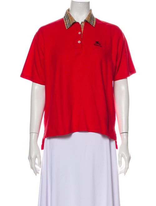 Burberry Vintage Short Sleeve Polo Red