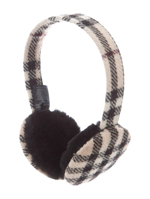 Burberry Check Wool Earmuffs Black