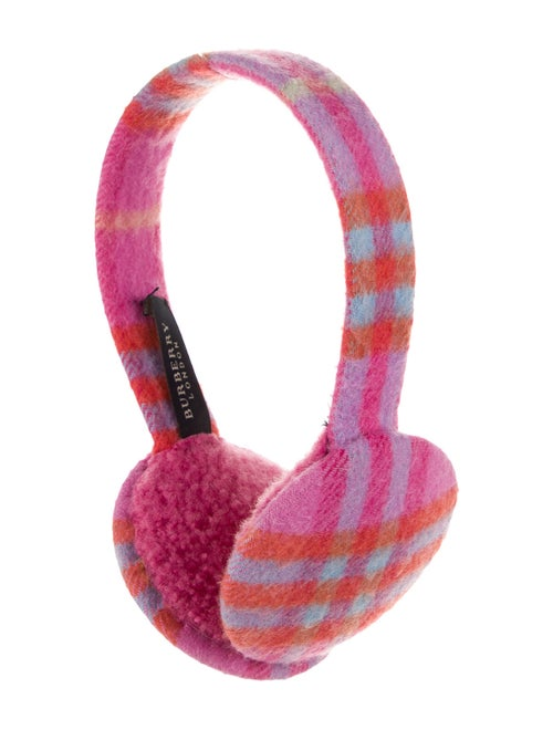 Burberry Shearling-Trimmed Cashmere Earmuffs Pink