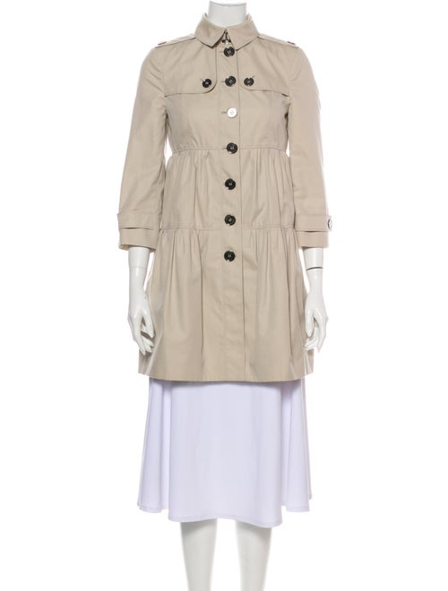 Burberry Nova Check-Lined Lightweight Coat Trench
