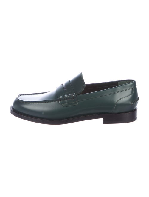 Burberry Leather Dress Loafers Green