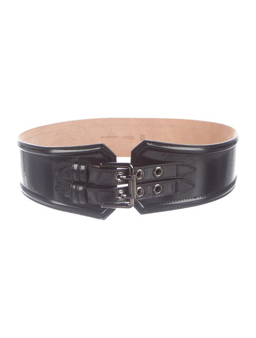 Burberry Leather Buckle Belt Black