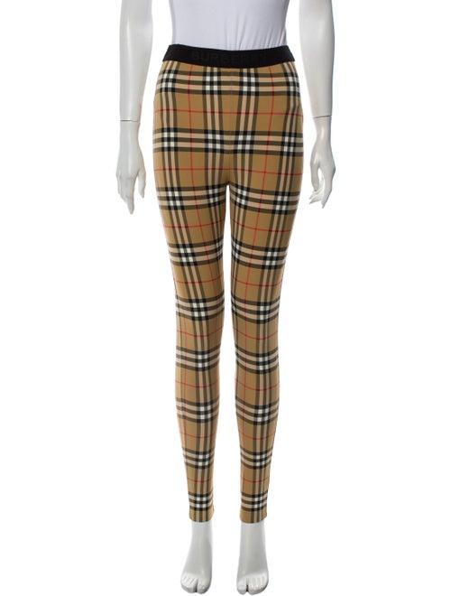 Burberry Plaid Print Skinny Leg Pants
