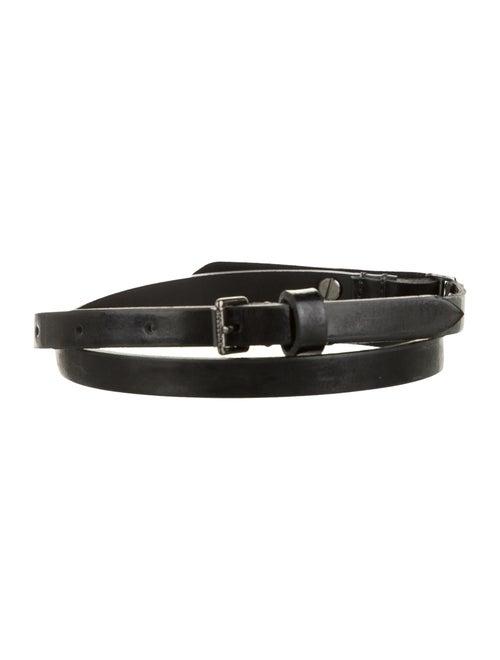 Burberry Skinny Patent Leather Belt Black