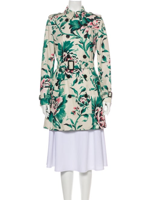 Burberry Floral Print Trench Coat