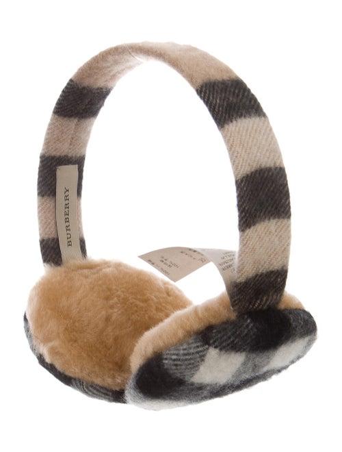 Burberry Nova Check Cashmere Earmuffs multicolor