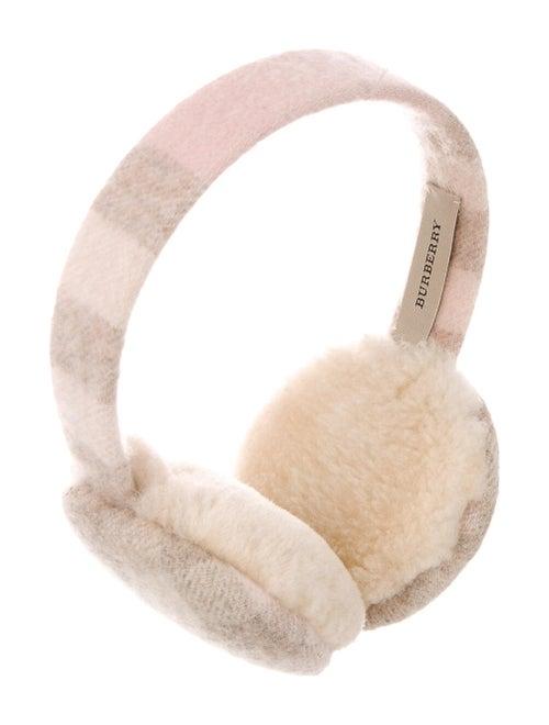 Burberry Cashmere Check Ear Muffs Tan