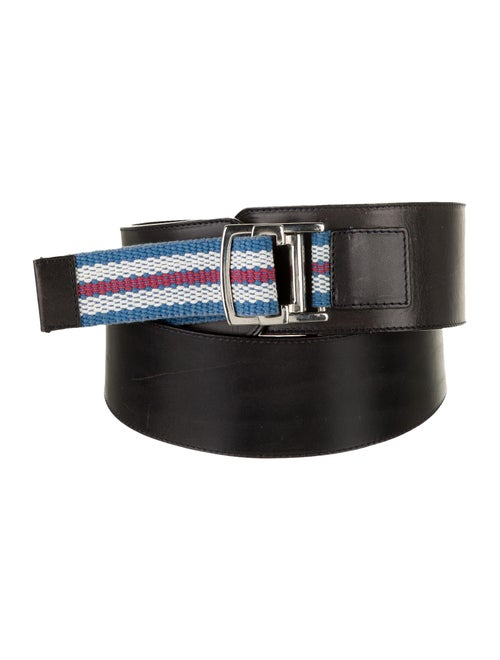 Burberry Wide Leather Belt Black