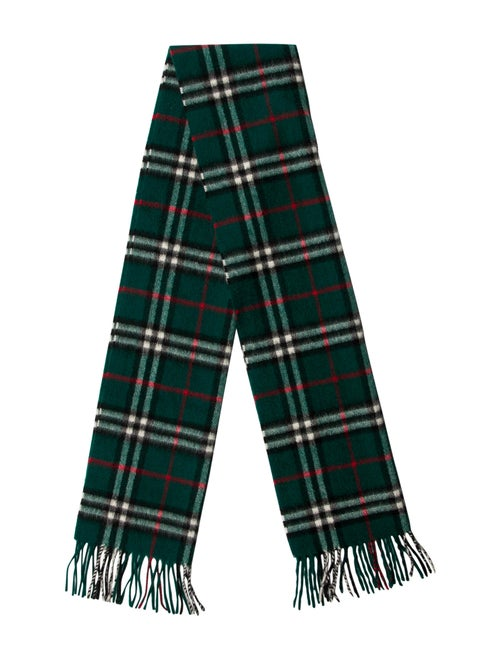 Burberry Nova Check Cashmere Scarf green