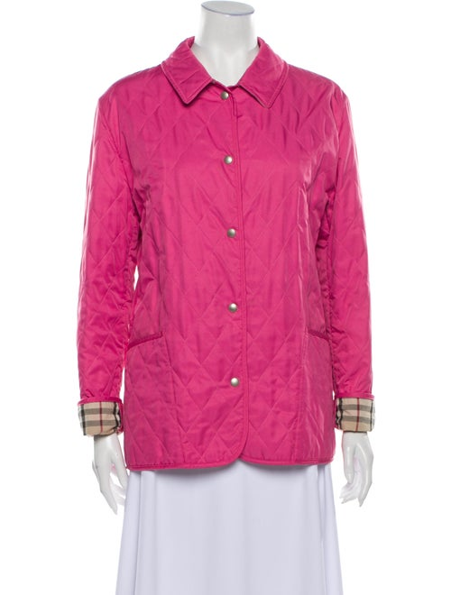 Burberry Quilted Utility Jacket Pink