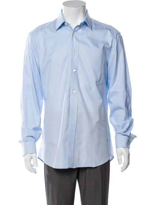 Burberry Long Sleeve Dress Shirt Blue