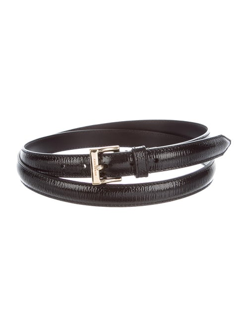 Burberry Patent Leather Belt Black
