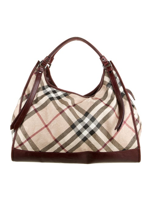 Burberry Embossed Super Nova Check Hobo
