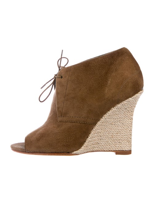 Burberry Suede Lace-Up Boots Brown