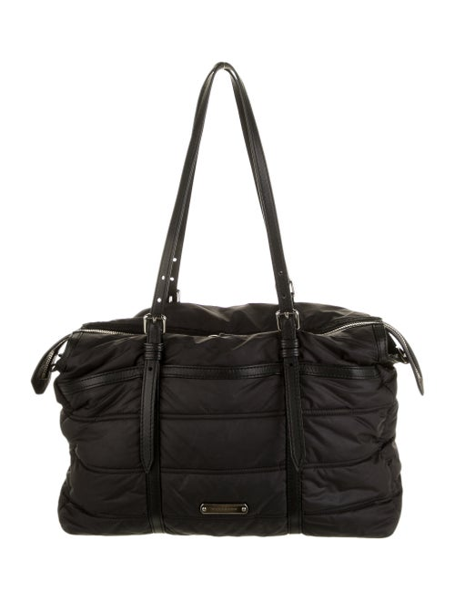 Burberry Quilted Abbey Diaper Bag Black