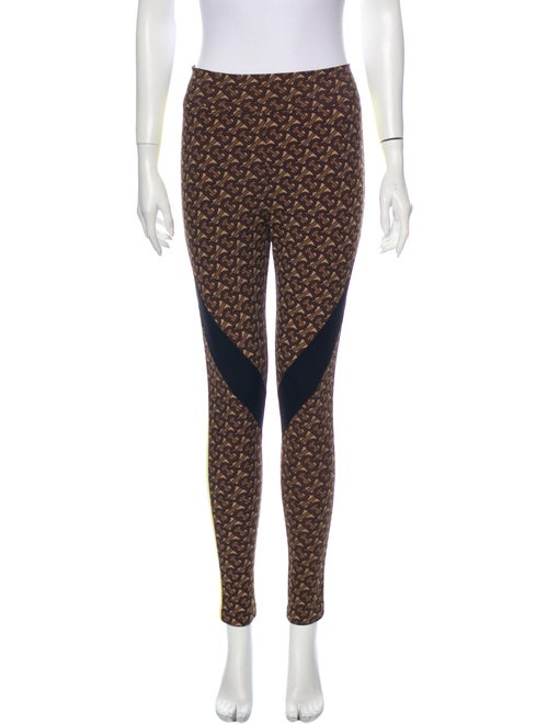 Burberry Printed Skinny Leg Pants Brown