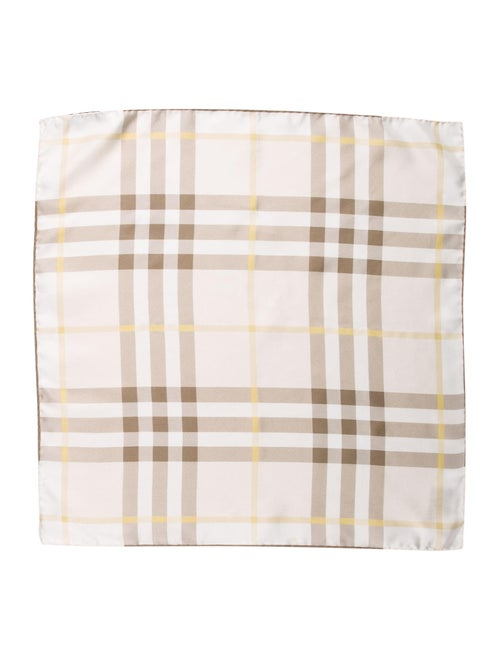 Burberry Nova Check Silk Pocket Square multicolor