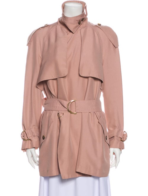 Burberry Sanbridge Silk Trench Coat Pink