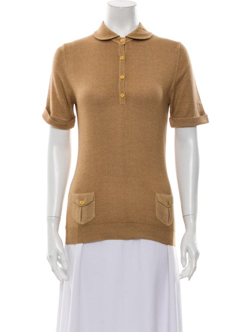 Burberry Short Sleeve Polo Brown