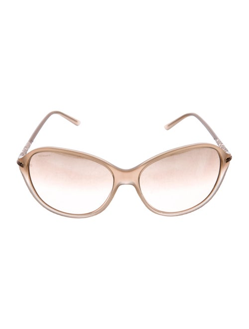 Burberry Tinted Round Sunglasses Tan