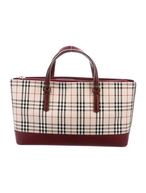 Burberry Nova Check Handle Bag Tan