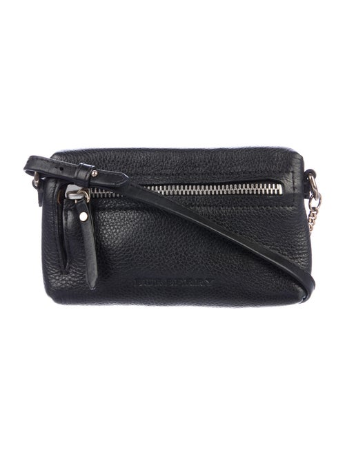 Burberry Leather Mini Crossbody Bag Black
