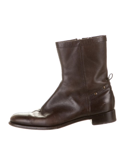 Burberry Leather Boots Brown