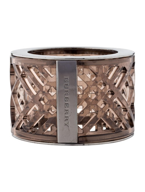 Burberry Acrylic Cut-Out Bangle Bracelet Bronze