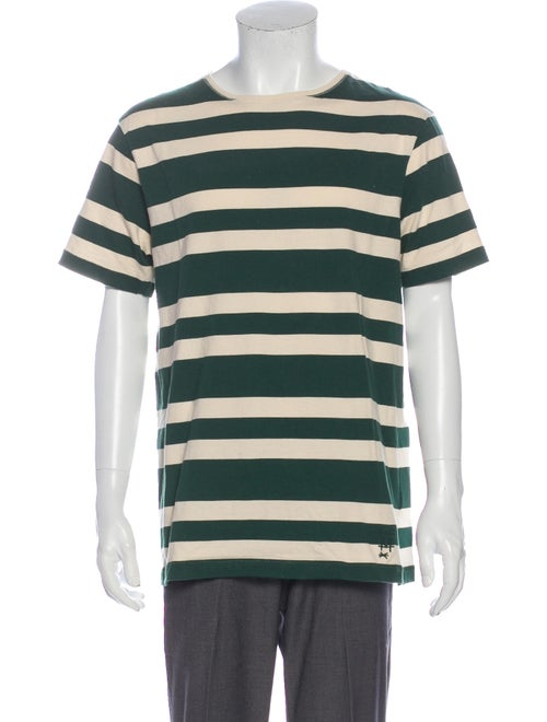 Burberry Striped Crew Neck T-Shirt Green
