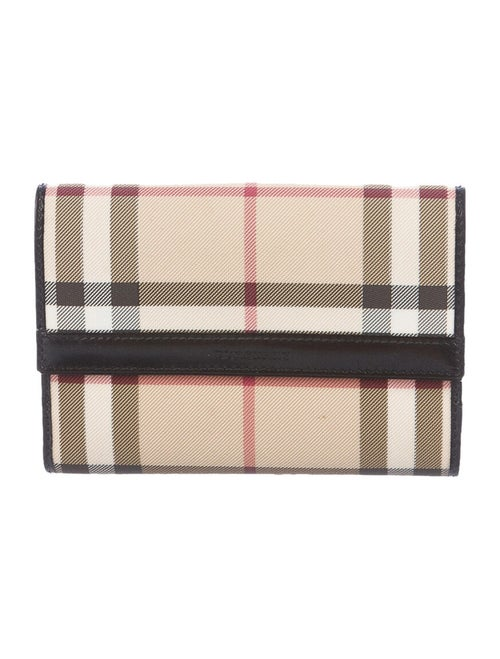 Burberry Nova Check Compact Wallet Tan