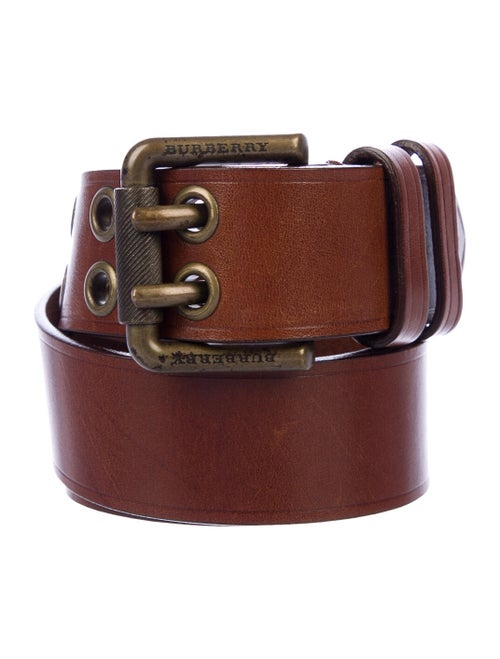 Burberry Leather Buckle Belt Brown