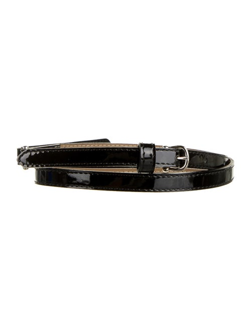 Burberry Patent Leather Buckle Belt Black